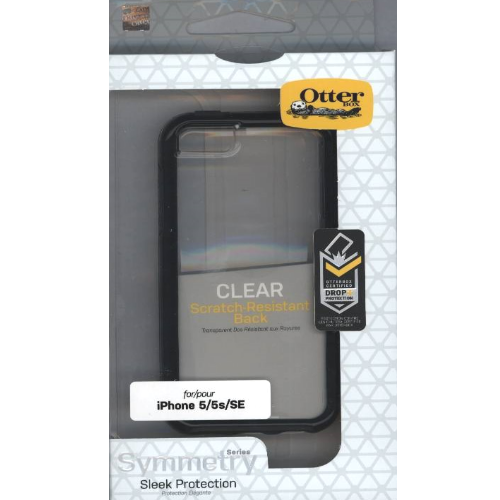 Genuine OtterBox Symmetry case cover iPhone 5 5S SE Tough Crystal clear Black