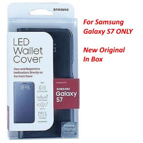 New Authentic Led Wallet Cover Case For Samsung Galaxy S7