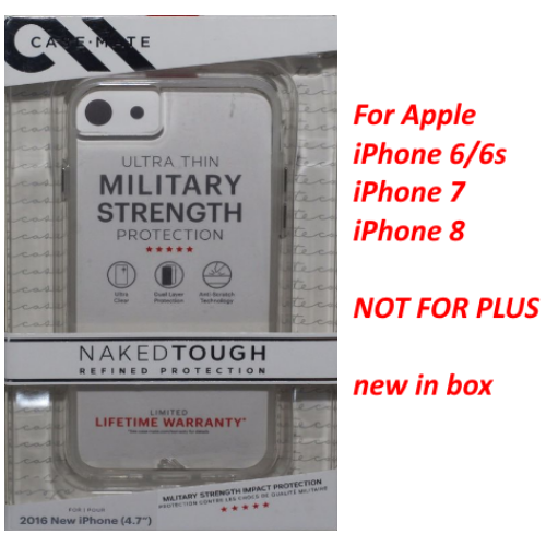 New Case-Mate Naked Tough Refined Protection Case For iPhone 6/6S/7/8 - Clear