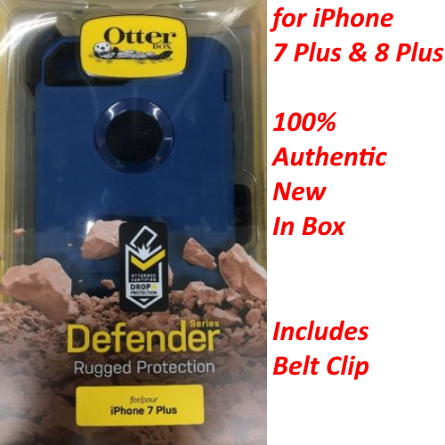 New OtterBox Defender Cover Case+Holster For iPhone 7 Plus 8 Plus  Bespoke Way