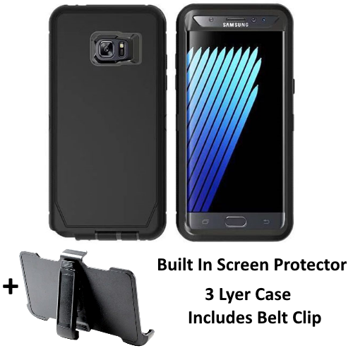 New Samsung Galaxy Note 7 Defender Case Cover Holster [Belt Clip Fits Otterbox]
