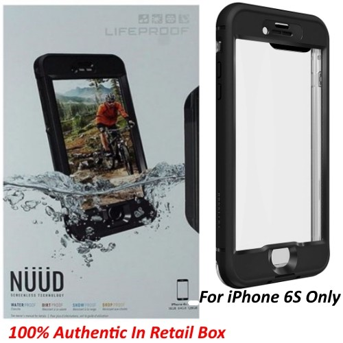 Authentic Lifeproof Nuud Waterproof Case Cover For iPhone 6S - Black