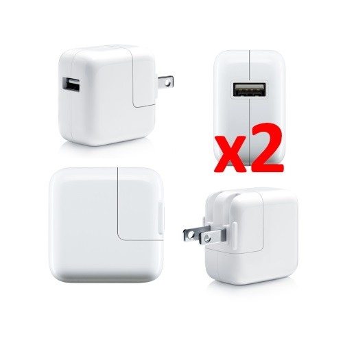 2x USB AC 10W Wall Charger Power Adapter For Apple iPad 4 iPad Air iPhone 5s 6