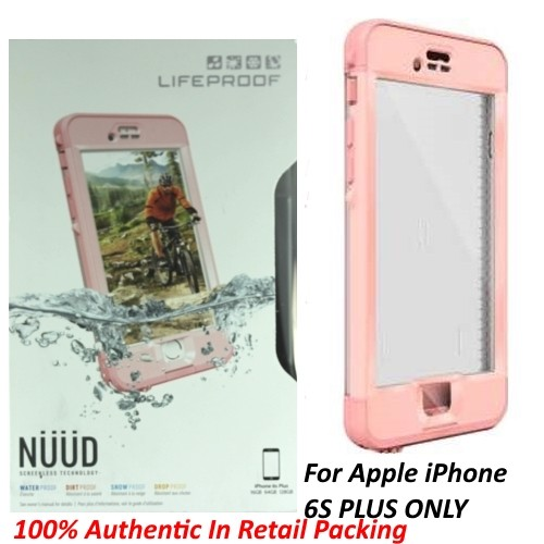 Authentic Lifeproof Nuud Waterproof Case For iPhone 6S Plus - Pink/First Light