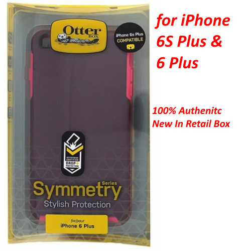 NEW OtterBox Symmetry Series Case for iPhone 6 Plus 6S Plus Crushed Damson