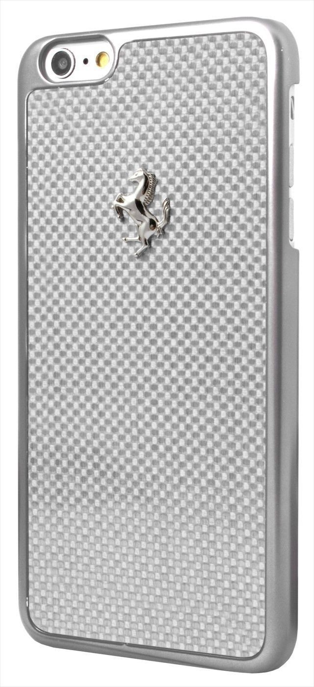 Genuine Official Ferrari GT Real Carbon Fiber Hard Case For iPhone 6/6S Silver