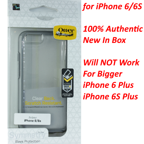 New OtterBox Symmetry Series Cover Case For iPhone 6S / iPhone 6 Clear Gray