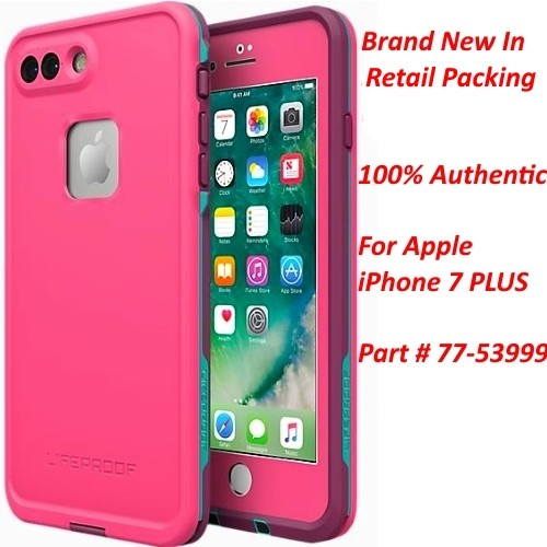 Authentic Lifeproof FRE Waterproof Case For iPhone 7 Plus Twilights Edge Pink