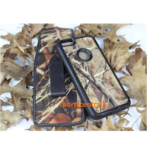 Apple Defender Built In Screen Case + Holster Belt Clip for iPhone 6 Camo Black