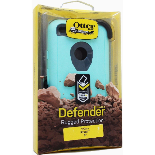"New Otterbox Defender Case & Belt Clip Holster For Google Pixel 5"" Aqua Mint"