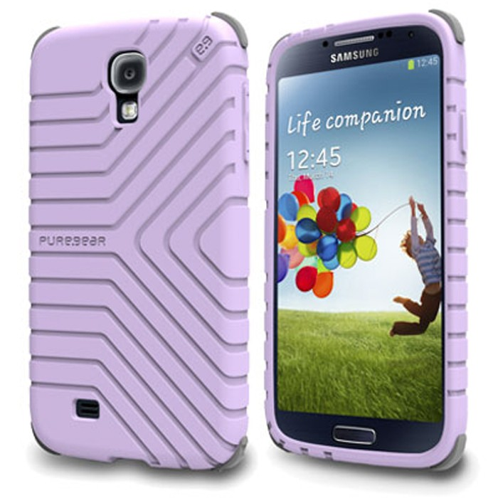 AUTHENTIC SAMSUNG GALAXY S4 PUREGEAR (LAVENDER) GRIPTEK CASE COVER