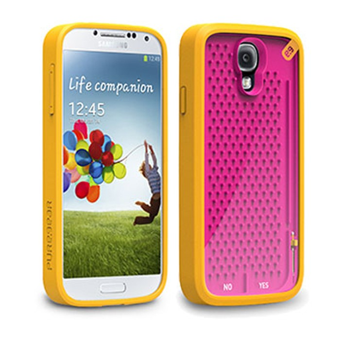 ORIGINAL SAMSUNG GALAXY S4 PUREGEAR UNDECIDED (ORANGE/PINK) RETRO GAMER CASE