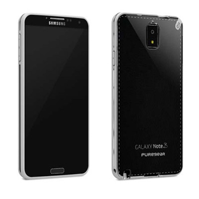 AUTHENTIC SAMSUNG GALAXY NOTE 3 PUREGEAR (CLEAR/WHITE) SLIM SHELL CASE