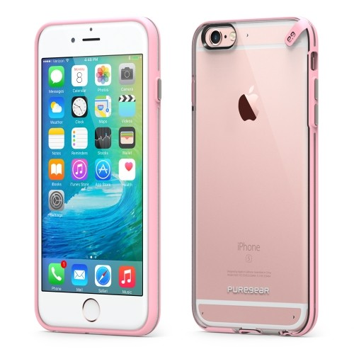 Authentic PureGear Slim Shell Case Cover For iPhone 6S Clear Ice With Rose Pink