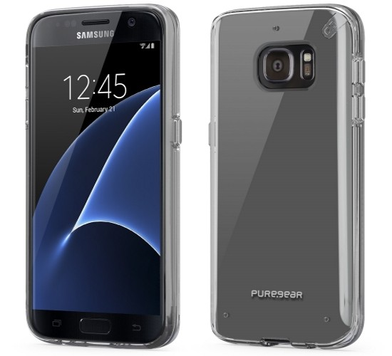 Authentic PureGear Slim Shell Case Cover For Samsung Galaxy S7 Clear Frozen Ice