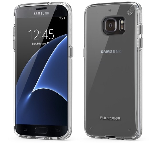 Authentic PureGear Slim Shell Case For Samsung Galaxy S7 Edge Clear Frozen Ice
