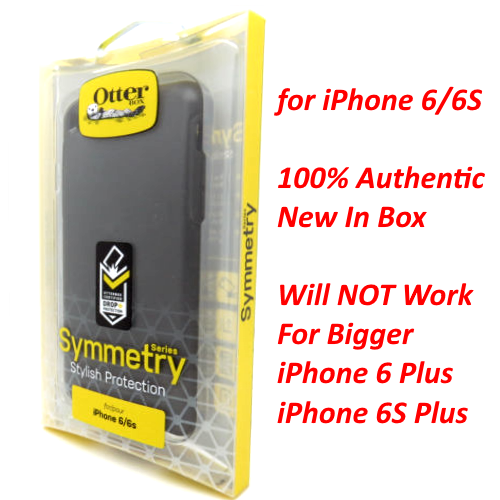 New OtterBox Symmetry Series Cover Case For iPhone 6S / iPhone 6 Black
