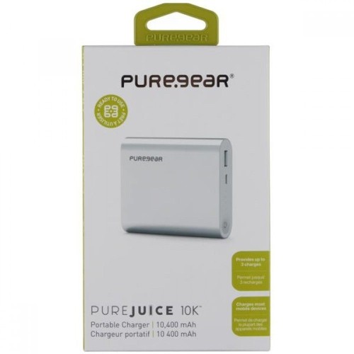 PureGear Purejuice 10K PowerBank Portable Backup Battery 10400 mAh iPhone 7 6 5