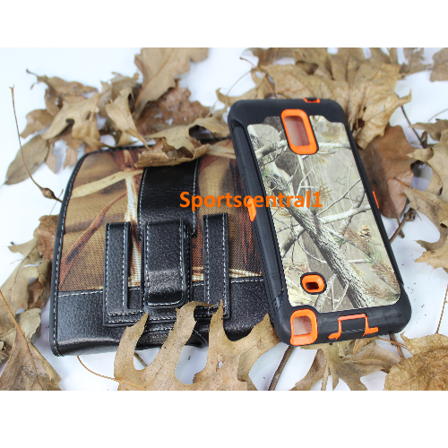 Rugged Horizontal Pouch & Defender Hybrid Case For Samsung Galaxy Note 3 Camo