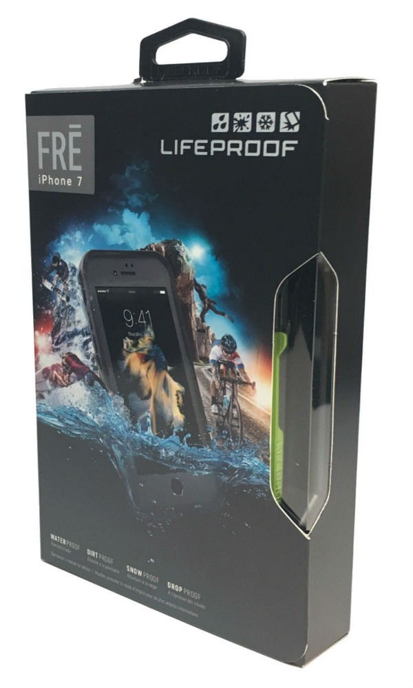 100% Authentic LifeProof Fre Series Waterproof Case for iPhone 7 - Gray & Green