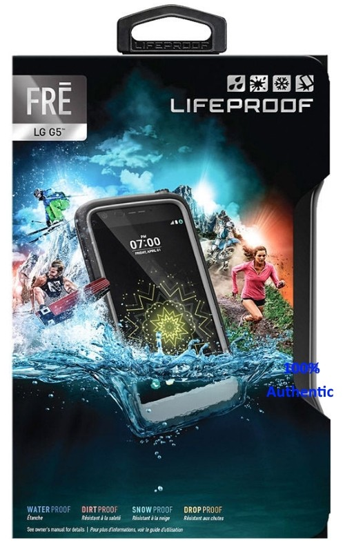 Lifeproof Authentic Waterproof FRE Case for LG G5 Color: BLACK 77-53373