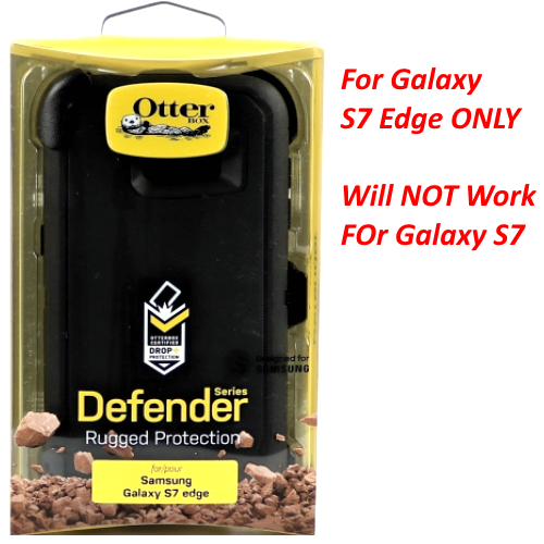 New OtterBox Defender Series Cover Case for Samsung Galaxy S7 Edge Black