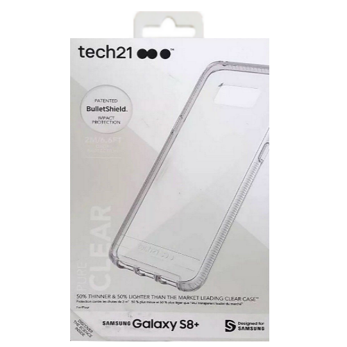 Tech21 Pure Clear Series Case Cover For Samsung Galaxy S8+ Plus 100% AUTHENTIC