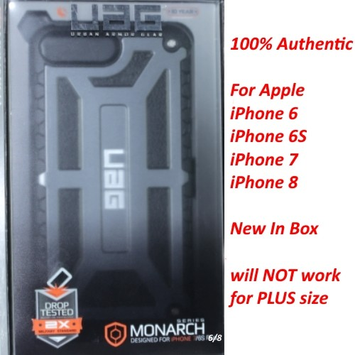 Authentic UAG Urban Armor Gear Monarch Case Cover For iPhone 6/6S/7/8 Graphite