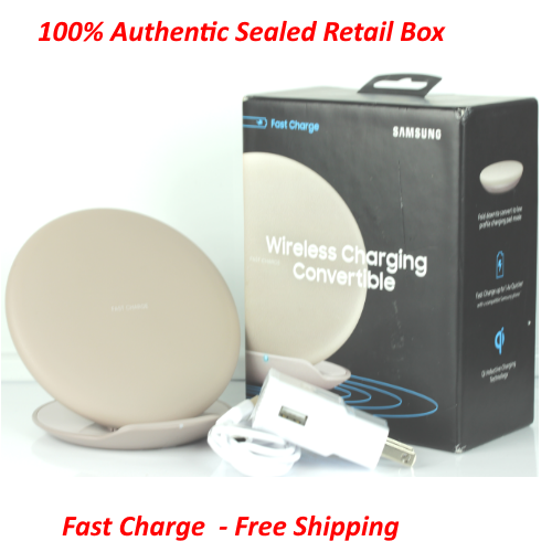 Samsung FAST CHARGE Wireless Charging Dock Pad With Convertible Stand Beige