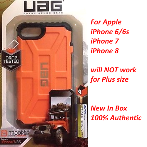 Original UAG Trooper Impact Resistant Wallet Card Case For iPhone 6/6s 7 8 Rust