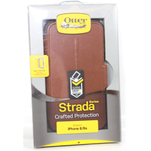 Authentic OtterBox Strada Crafted Protection Case For iPhone 6/6S - Burnt Saddle