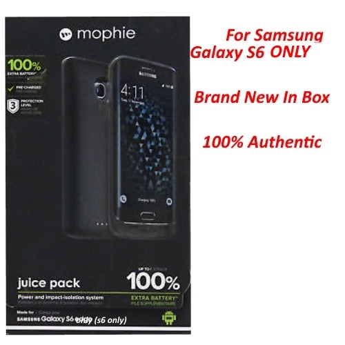 Authentic Mophie Juice pack Battery Case For Samsung Galaxy S6 ONLY (3,300mAh)