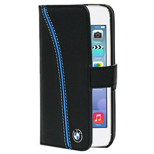 BMW SIGNATURE COLLECTION SEAT PIPING BOOKTYPE LEATHER CASE FOR IPHONE 5/5S/SE