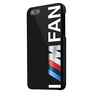 OFFICIAL GENIUNE BMW M COLLECTION IM A FAN HARD CASE FOR IPHONE 5/5S/SE - BLACK