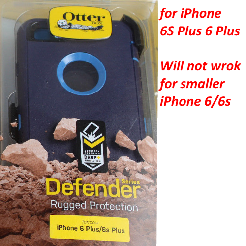 New OtterBox Defender Cover Case+Holster For iPhone 6 Plus 6S Plus Blue