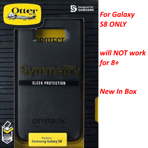 OEM OtterBox Symmetry Case Cover For Samsung Galaxy S8 - 77-54544 - Black