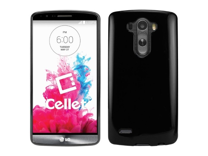 Cellet Black Slim TPU Flexi Case for LG G3