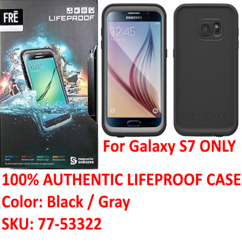 100% Authentic Lifeproof Case WaterProof Cover For Samsung Galaxy S7 (77-53322)