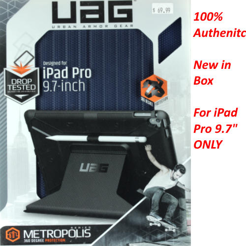 UAG Folio iPad Pro 9.7-inch Feather-Light Rugged [COBALT] Drop Tested iPad Case