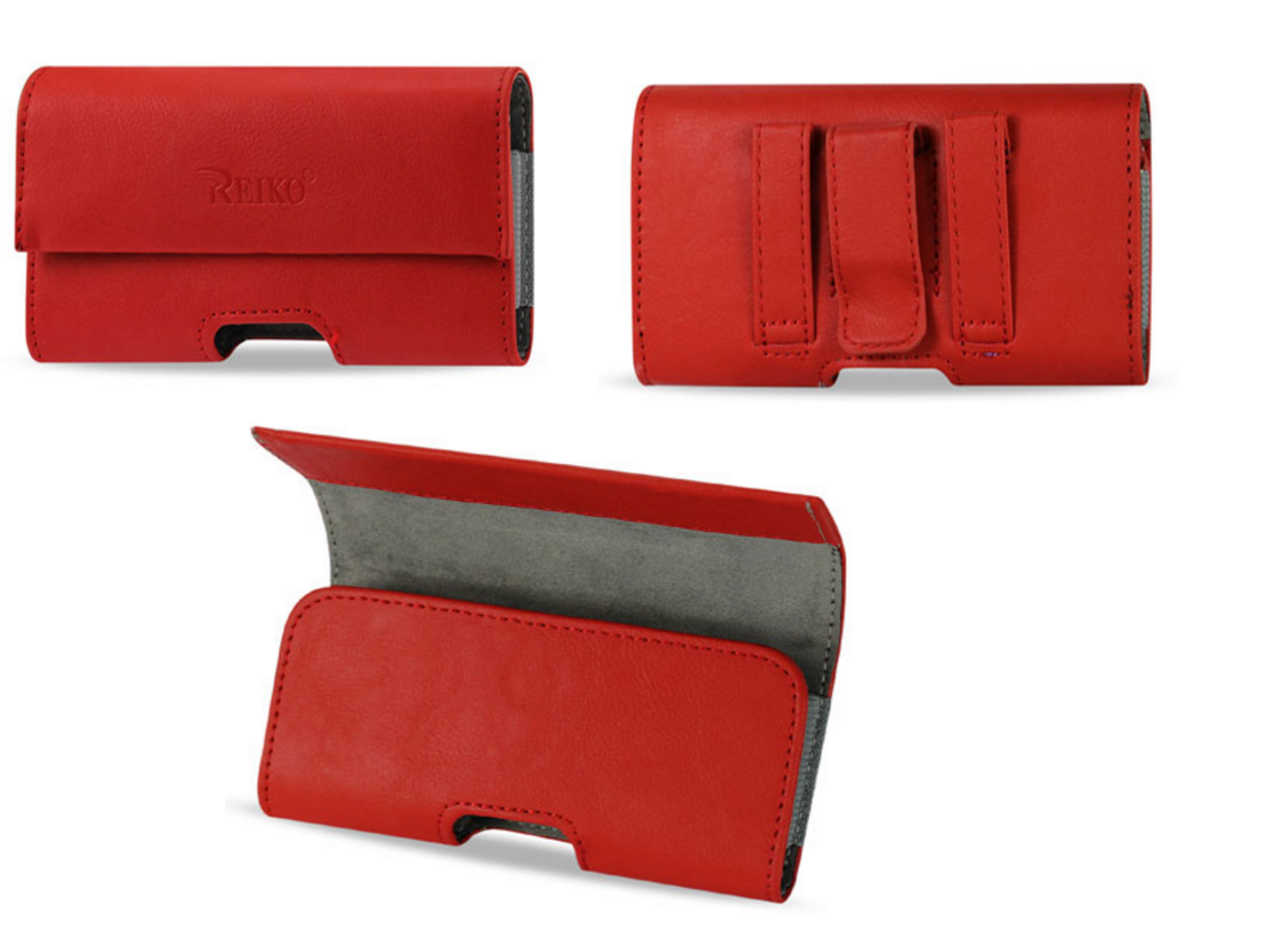 Horizontal Pouch Red Case Cover Belt Clip Holster For SAMSUNG GALAXY S6/S5
