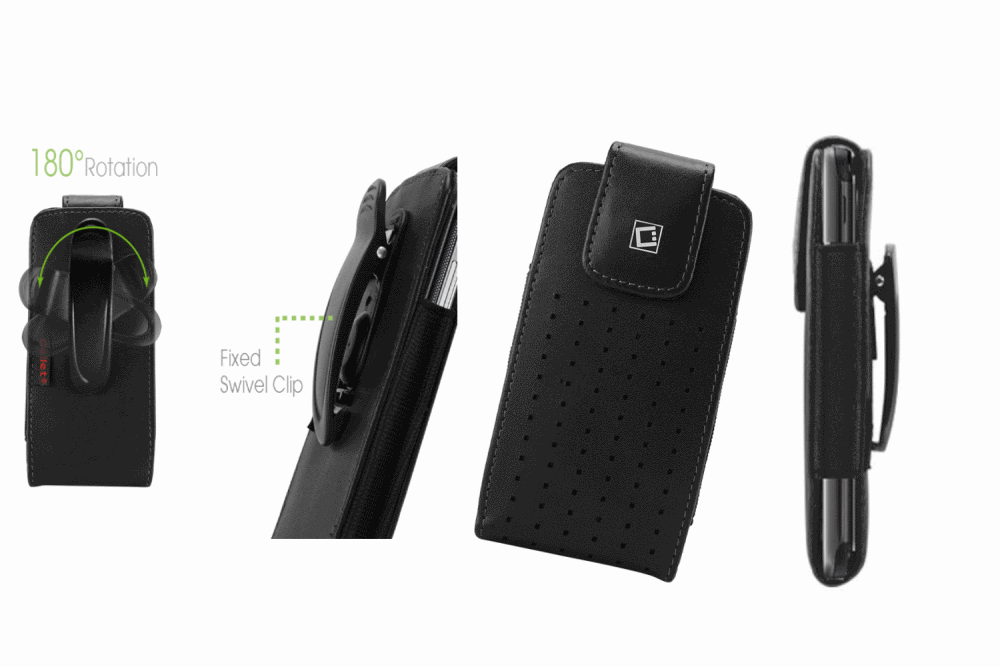 Cellet Teramo Leather Case with Fixed Swivel Clip for  Huawei Valiant(Y301)