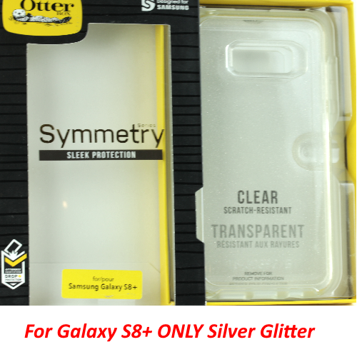 Genuine OtterBox Symmetry Case For Samsung Galaxy S8+ (PLUS) Clear Glitter