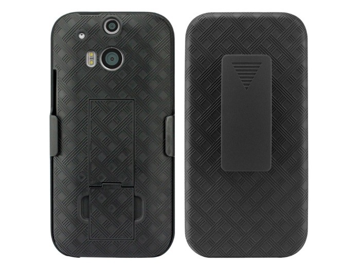 Cellet Shell + Holster + Kickstand Combo Case with Belt Clip for HTC One M8