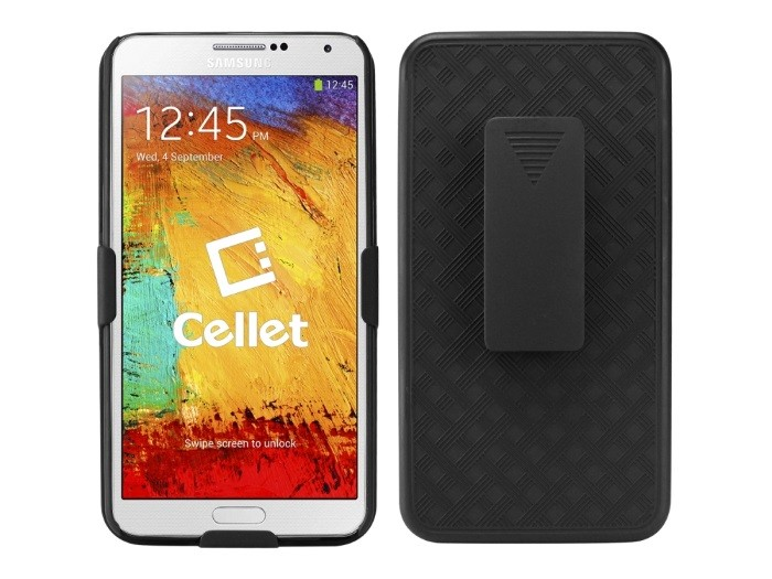Cellet Shell+Holster+Kickstand Combo Case w/ Belt Clip for Samsung Galaxy Note 3