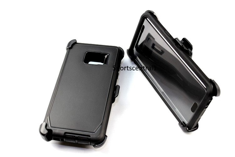 For Samsung Galaxy Note 7 Defender BLACK Case Cover [Belt Clip Fits Otterbox]