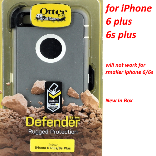 OtterBox Defender Cover Case+Holster For iPhone 6 Plus 6S Plus Gray / White