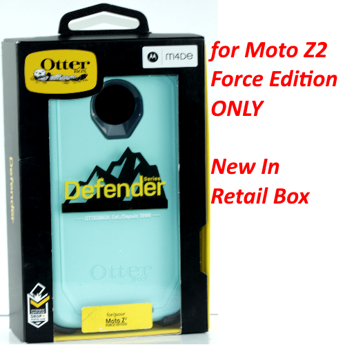 OtterBox DEFENDER SERIES Case for Moto Z2 Force Edition (TEMPEST BLUE/AQUA MINT)