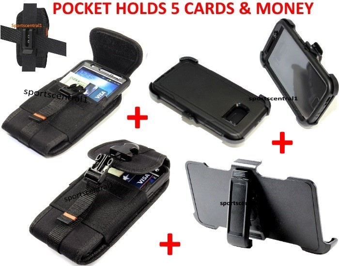 For Samsung Galaxy Note 4 Defender Case+Holster+Card Pouch [Clip Fits Otterbox]
