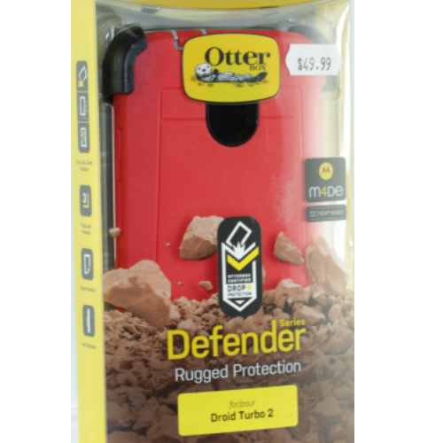 Otterbox Defender Case Belt Clip Holster For Motorola Droid Turbo 2 (Red & Black)