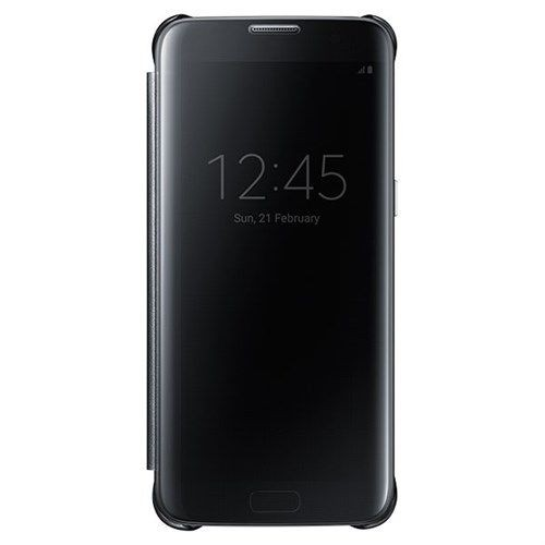 Samsung S-View Flip Cover Clear for Samsung Galaxy S7 edge - Clear/Black